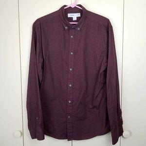 Old Navy Men's Slim Fit Burgundy Button Down Shirt